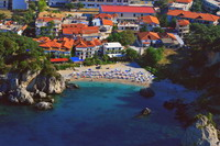 Aerial view on Piso Krioneri beach Parga Greece